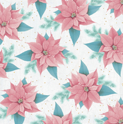 Pink Poinsettia Paper - Christmas Wishes - KaiserCraft