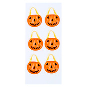 Pumpkin Baskets Mini Stickers - Little B