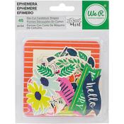 Cardstock Shapes - Flower Girl Ephemera Die-Cuts