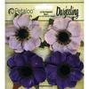"""Purple - Darjeeling Anemone Flowers 2"""" 4/Pkg"""