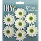 "White - DIY Paintables Darjeeling Mini Daisies 1.25"" 7/Pkg"