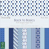 """Blue Skies, 12 Designs/4 Each - Dovecraft Back To Basics Paper Pack 8""""X8"""" 48/Pkg"""