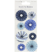 Dovecraft Back To Basics Blue Skies Accordion Stickers 8/Pkg