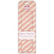 """Pink Stripes - Deco Mache Paper 10.25""""X14.75"""" 3/Pkg"""