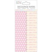 Soft Hearts - Simply Creative Decoupage Paper 18.8cm X 35cm 4/Pkg