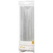 Silver Solid - Details Foiled Paper Straws 24/Pkg