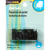 Black - Upholstery Steel Tacks 5/8  1.5oz Dritz-Upholstery Steel Tacks: Black. These sturdy tacks are perfect to reupholster furniture. This package contains 1.5oz of 5/8 inch steel tacks. Imported.