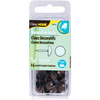Brown Smooth Head - Upholstery Decorative Nails 7/16  24/Pkg Dritz-Upholstery Decorative Nails: Brown Smooth Head. These sturdy tacks can be used to reupholster furniture. This package contains twenty-four 7/16 inch decorative nails. Imported.