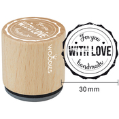 """For You With Love Handmade - Woodies Mounted Rubber Stamp 1.35"""""""