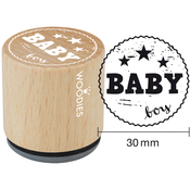 """Baby Boy - Woodies Mounted Rubber Stamp 1.35"""""""