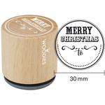 """Merry Christmas To - Woodies Mounted Rubber Stamp 1.35"""""""