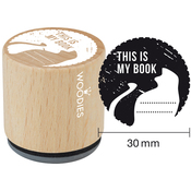 """This Is My Book - Woodies Mounted Rubber Stamp 1.35"""""""