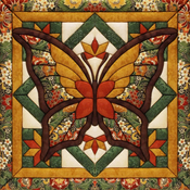 "12""X12"" - Fall Butterfly Quilt Magic Kit"