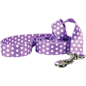 "New Purple Polka Dot - Yellow Dog Lead 1""X60"""