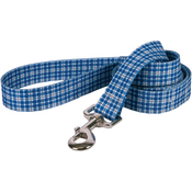 "Preppy Plaid Blue - Yellow Dog Lead 1""X60"""