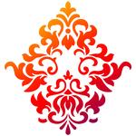 """Big Ornament - Viva Decor Universal Stencil 8.27""""X11.69"""""""