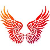 "Wings - Viva Decor Universal Stencil 8.27""X11.69"""