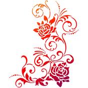 "Filigree Flower - Viva Decor Universal Stencil 8.27""X11.69"""