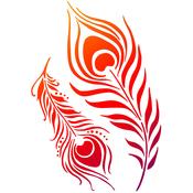 "Peacock's Feathers - Viva Decor Universal Stencil 8.27""X11.69"""