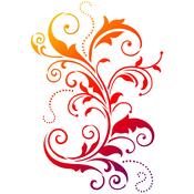 """Curlicue - Viva Decor Universal Stencil 11.69""""X16.54"""""""