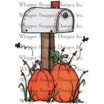 """Fall Mailbox - Whipper Snapper Cling Stamp 4""""X6"""""""