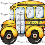 "School Bus - Whipper Snapper Cling Stamp 4""X6"""