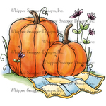 "Pumpkins & Patchwork - Whipper Snapper Cling Stamp 4""X6"""
