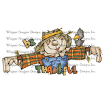 """Be Thankful Scarecrow - Whipper Snapper Cling Stamp 4""""X6"""""""