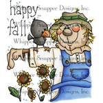 """Fall Scarecrow - Whipper Snapper Cling Stamp 4""""X6"""""""