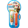 Large Breed - EZ Dog Pet Toothbrush Kit Triple Pet-EZ Dog Pet Toothbrush Kit: Large Breed. Canine dental care is made easy with this toothbrush kit! This package contains one 7 inch long pet toothbrush and 2.5oz of vanilla mint flavored pet toothpaste. Dishwasher safe. Comes in a variety of colors. No guarantee of what color you will receive. Made in USA.