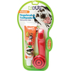 EZ Dog Pet Finger Toothbrush Kit Triple Pet-EZ Dog Pet Finger Toothbrush Kit. Canine dental care is made easy with this toothbrush kit! Toothpaste is formulated without added sugars and is sweetened with Stevia for a safe and delicious vanilla flavor. This package contains one 5-1/2 inch long fingerbrush and 2.5oz of pet toothpaste. Dishwasher safe. Comes in a variety of colors. No guarantee of what color you will receive. Made in USA.