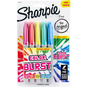 Assorted - Color Burst Permanent Markers Fine 5/Pkg