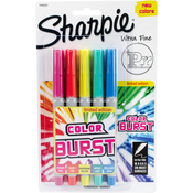 Assorted - Color Burst Permanent Markers Ultra Fine 5/Pkg
