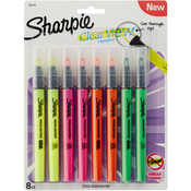 Assorted - Clearview Highlighters 8/Pkg