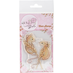 "Harvest Mice - Wild Rose Studio Ltd. Clear Stamp 3.5""X3"""