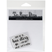 "Son Of A Bee Sting - Two Paper Divas Clear Stamps 6""X4.5"""