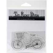 "Vintage Bike - Two Paper Divas Clear Stamps 6""X4.5"""