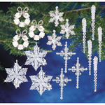 Crystal Collection - Holiday Beaded Ornament Kit Collection