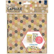 "Papermania Geometric Kraft Cards W/Envelopes 6""X6"""
