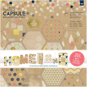 """Geometric Kraft - Papermania Double-Sided Paper Pack 12""""X12"""""""