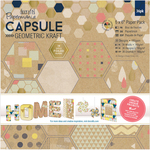 "Geometric Kraft - Papermania Double-Sided Paper Pack 6""X6"""