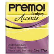 Fluorescent Yellow - Premo Sculpey Polymer Clay 2oz