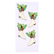 Christmas Ice Skates Mini Stickers - Little B