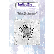 "Colour Me Anenome - IndigoBlu Cling Mounted Stamp 5""X4"""