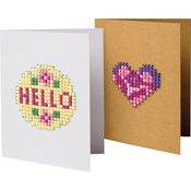 "4.75""X3.5"" 6/Pkg - Greeting Card Fronts Punched For Cross Stitch"