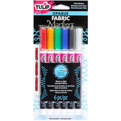 Primary - Tulip Opaque Fabric Markers 6/Pkg