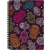 "Hand Print - Jewel Tones Spiral-Bound Notebook 7""X9.5"""