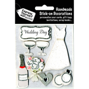 Wedding Day Dress & Champagne - Express Yourself MIP 3D Stickers