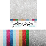 """Couture Creations Glitter Paper Pad 12""""X12"""" 10/Pkg"""
