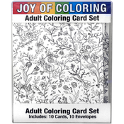 "Nature's Wonders - Joy Of Coloring Adult Coloring Card Set 4""X5.5"""